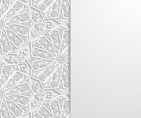 Paper cut flowers white ornaments vector