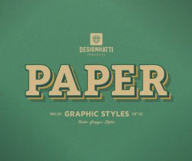 Paper graphic styles text styles vector