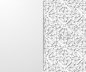 Pattern paper cut flower vector