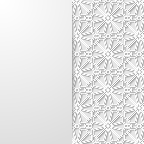 Pattern paper cut flower vector