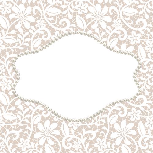 Pearl frame vector card