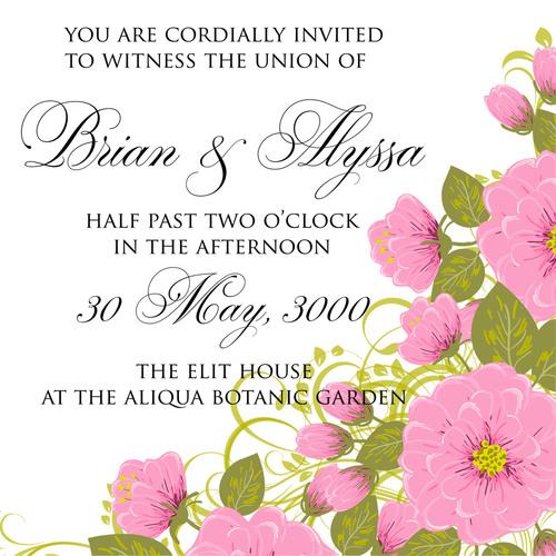 Perfect wedding invitation card vector
