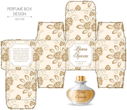 Perfume box design vector