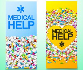 Pharmaceutical factory banner advertisement vector