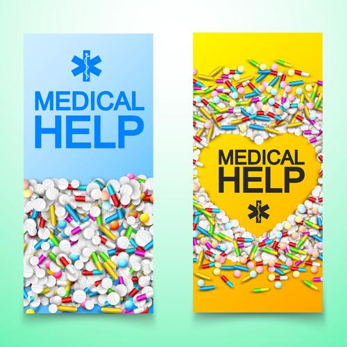 Pharmaceutical factory banner advertisement vector