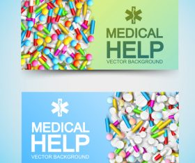 Pill banner advertising vector