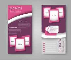 Pink gradient business advertising template vector