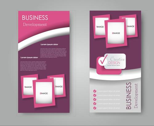 Pink gradient business advertising template vector