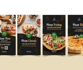 Pizza restaurant instagram stories vector