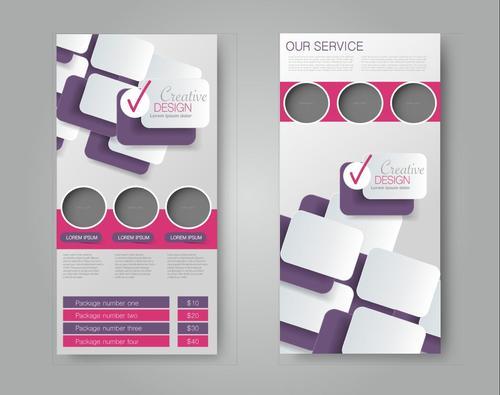 Portfolio graphic business advertising template vector