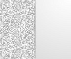 Pretty paper cut flower vector
