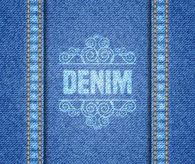 Printed denim texture vector