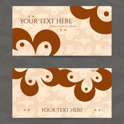 Printing style company business card vector