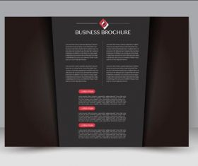 Pure black cover business brochure vector