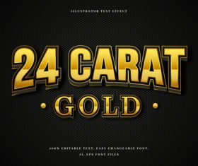 Pure gold 3d font editable text style effect vector