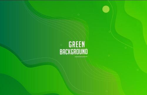 Pure green background template design vector
