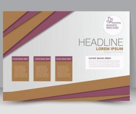 Purple and beige business brochure vector
