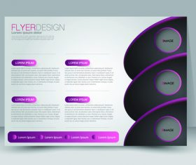 Purple and black business advertising template vector