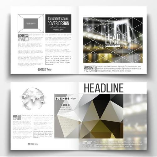 Railway bridge background business brochure template vector
