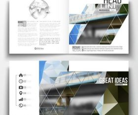 Railway transportation background business brochure template vector
