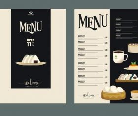 Restaurant breakfast menu vector