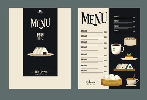 Restaurant breakfast menu vector