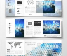 Rhombus background business brochure template vector