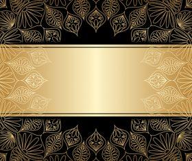 Round decorative pattern vector
