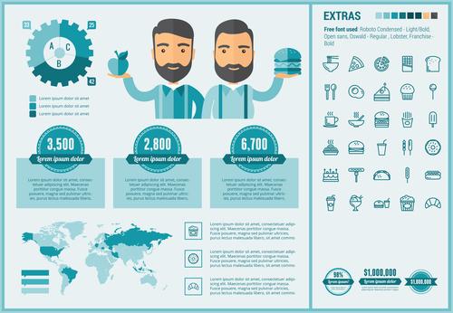 Sale infographic elements vector