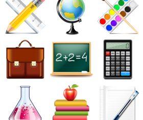 School icons vector