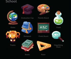 School illustration sets vector