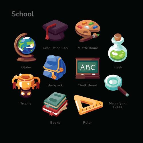 School illustration sets vector