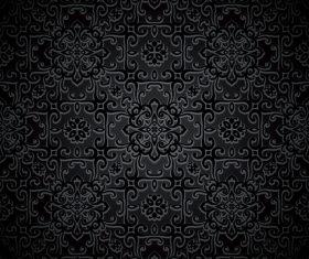 Seamless decorative pattern black background vector
