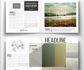 Seaside background business brochure template vector