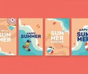 Seaside vacation banner vector