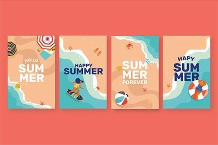 Seaside vacation banner vector