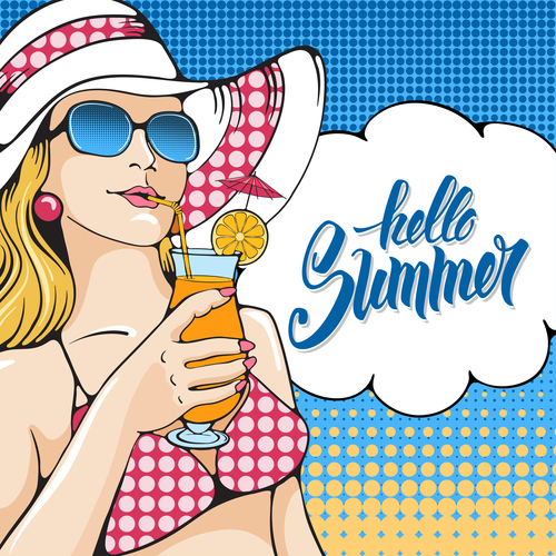 Seaside vacation illustration vector
