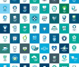 Set of dental clinic icons collection vector