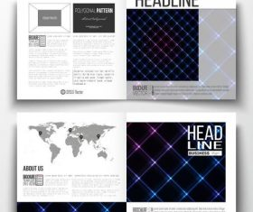 Shiny background business brochure template vector