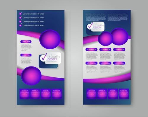 Shiny purple business advertising template vector