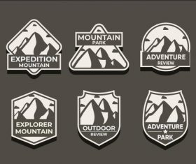 Silhouette adventure symbols vector set