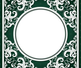 Silhouette frame vector