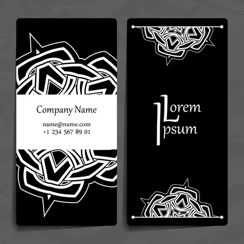 Silhouette pattern company business card vector