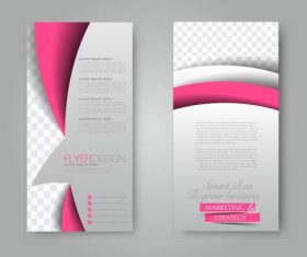 Simple color business advertising template vector