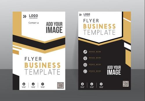 Simple cover flyer vector
