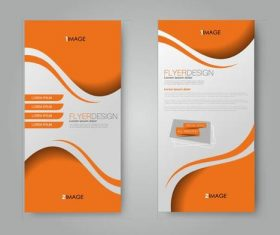 Simple design business advertising template vector