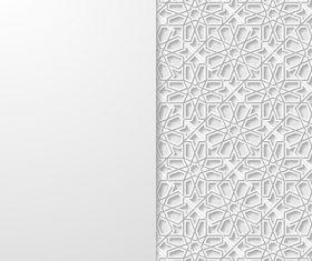 Simple pattern paper cut flower vector
