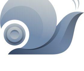 Snail gradient logo vector