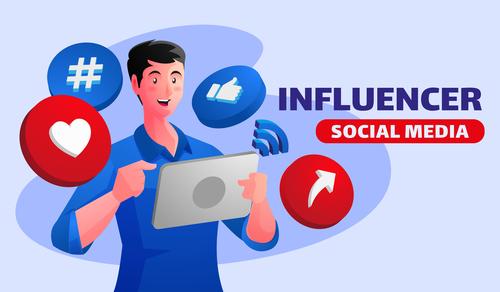 Social media sharing illustrator vector