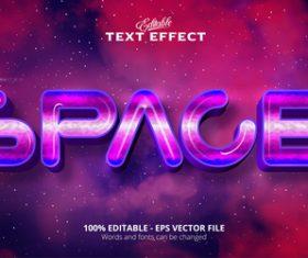 Space 3d effect text design vector